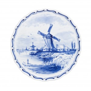 Plate Windmill 1 (handpainted)