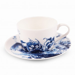 Peacock Teacup and Saucer