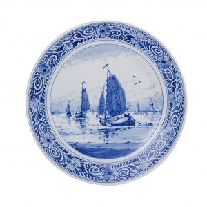 Plate Ships 1 (handpainted)