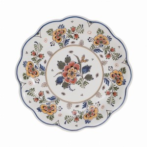 Plate Flowers Polychrome (handpainted)