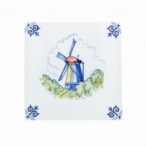 Windmill 1 Polychrome (handpainted)